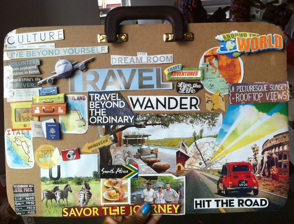suitcase visionboard